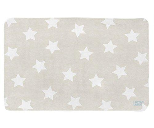LOTTAS LABLE 65003-1 Teppich Softie Sterne beige 180x130 cm
