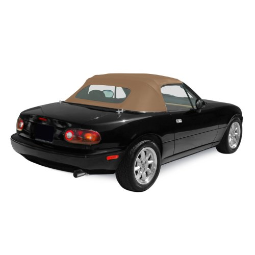 - Sierra Auto Tops Mazda 1990-2005 Miata Convertible Top, Stayfast Canvas, Beige
