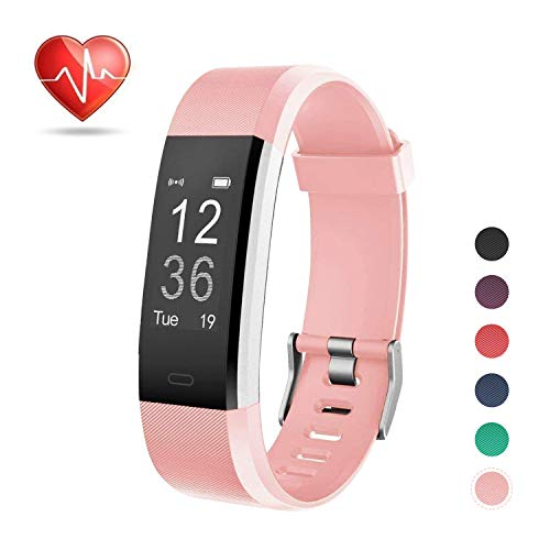 LETSCOM Fitness Tracker, Heart Rate Monitor Smart Watch with Sleep Monitor Step Counter Pedometer, Wireless Activity Tracker Watch, IP67 Waterproof for Women Men Kids