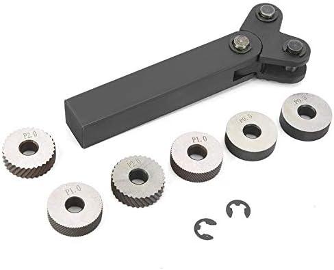 GENERICS LSB-Werkzeuge, 7Pcs / Set Stahl Rändelwerkzeug Diagonal Doppelrad Linear Knurl Set 0.5mm 1mm 2mm Pitch (Größe : 0.5mm 1mm 2mm)