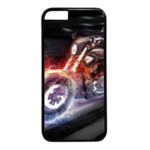"""Motorcycle Theme Case for iPhone 6(4.7"""") PC Material Black by mcsharks"""