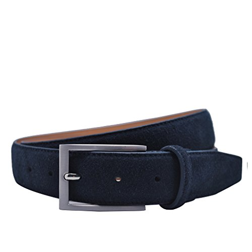 ground-mind-mens-suede-leather-belt-34-navy-blue