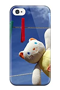 Series Skin Case Cover For Iphone 4/4s(toy Cat Hanged To Dry)