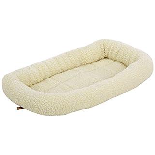 AmazonBasics Padded Pet Bolster Bed, 21 x 12 inches