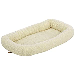 AmazonBasics Padded Pet Bolster Bed – Small Size(21×12-inch)
