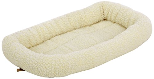 AmazonBasics Padded Pet Bolster Bed - 21 x 12 inches