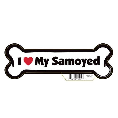 Samoyed Dog Bone Magnet