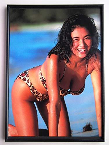 額装田島都ハイレグ水着牝豹ポーズセクシー80年代アートフレームポスター写真集カタログカレンダーCD