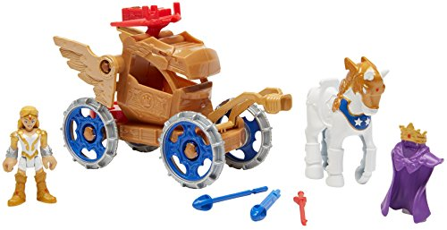 Fisher-Price Imaginext DC Super Friends, Wonder Woman Hippolyta & Battle Chariot