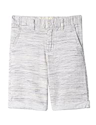 Nautica Big Boys' Solid Flat Front Short, Esperanza Oat Grey, 12