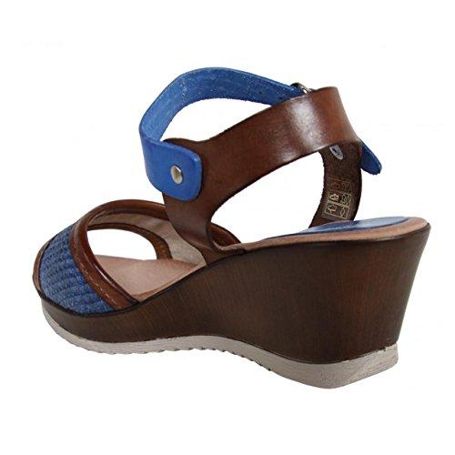 Zapatos de cuña de Mujer CUMBIA 30158 AZUL