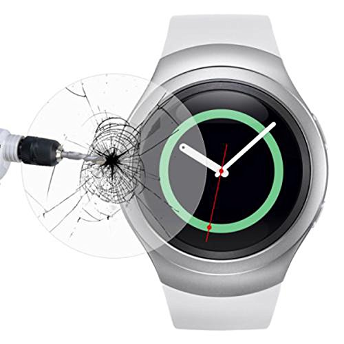 Tempered Glass Screen Protector for Samsung Gear S2 Smart Watch - 9