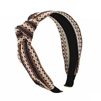 Amazon.com   Special Beauty Nice Striped Headbands For Women Vintage Girls  Hair Bands All Match Female Hair Accessories Chic Trend Headhoop Brown    Beauty 21205748078
