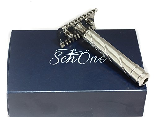 Handled Shallow Bowl - Schöne Italian Double Edge Safety Razor Designed to Deliver the Best Shave of Your Life!!! (Nickel)