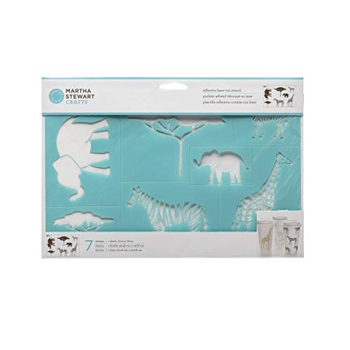 Martha Stewart Crafts Safari Style Laser-Cut Stencil - 12 x 7.75 Inches