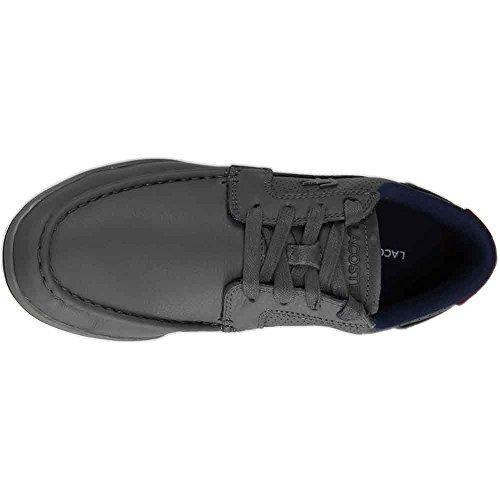 Mens Lacoste Sedie A Minimo 317 1 Sneaker Grigio Scuro