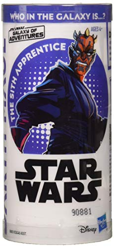 (Star Wars Galaxy of Adventures Darth Maul 3.75-Inch-Scale Figure Toy and Mini Comic - Learn About)