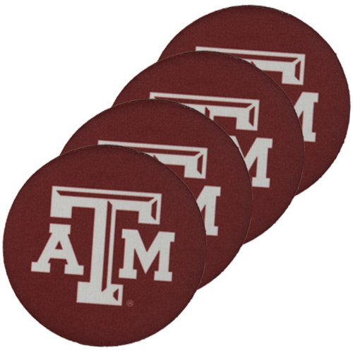 The Memory Company NCAA Texas A&M University Official Neoprene Travel Car Coasters (4 Pack), Multicolor, One Size