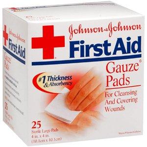 amazon com pack of 3 each gauze pad 4x4 jj 8525 25ea pt 38137008525