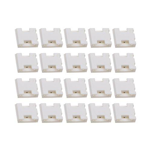 LEDENET 3 PIN Connector Box Adapter for 12mm Dual White LED Strip Light (20-pack)