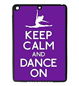 iPad Air Rubber Silicone Case - Keep Calm and Dance On Ballet Ballerina by supermalls