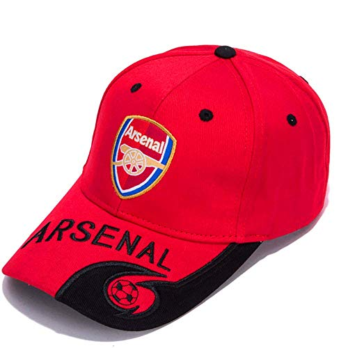 (Huanss New Arsenal F.C. Soccer Cap Great with Embroidered Authentic Baseball Cap (Red))