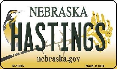 Hastings Mini (Hastings Nebraska State License Plate Magnet M-10607 Mini Licence Plate Magnet)