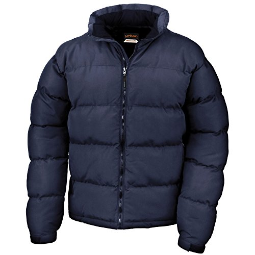 Jacket Feel Zip Stylish Casual Down Result Mens Long Plain Adults Holkham Jacket Sleeve Full Navy Urban AqPn6p