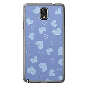 Loud Universe Samsung Galaxy Note 3 Love Valentine Printing Files A Valentine 143 Printed Transparent Edge Case - Blue