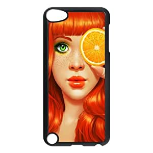 iPod Touch 5 Case Black Redhead Girl JSK657053