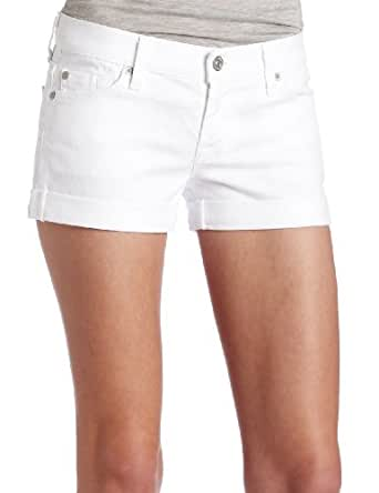 7 For All Mankind Women's Roll Up Short in Clean White, Clean white, 27