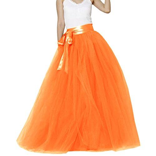 Mariage en Lady tulle sol marie ud de avec n femmes de Orange au longueur jupe papillon FrqwnIFf4