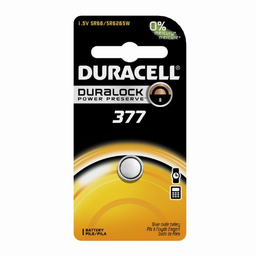 Duracell Watch And Electronic Battery 1.5 V Model No. 377 Ca