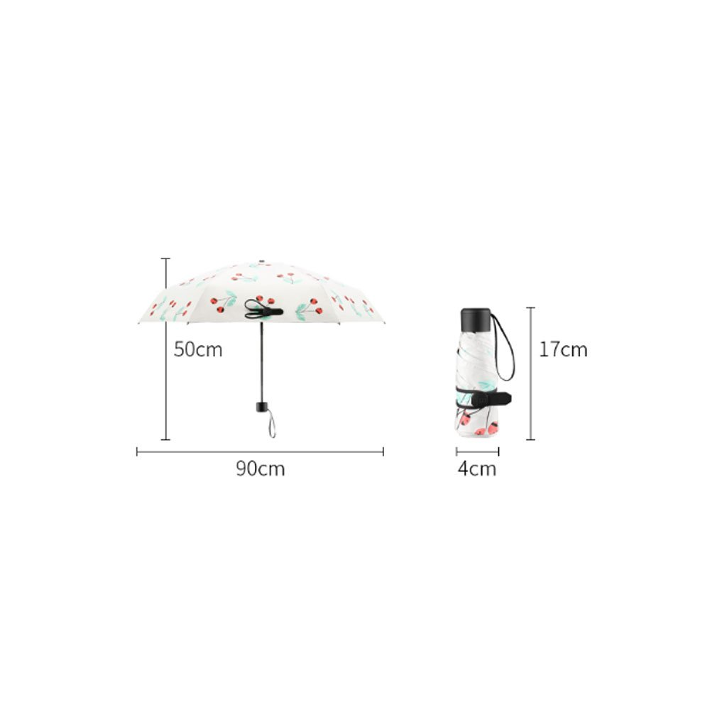 Teng Peng- Compact Travel Umbrella- Parasol Portable Folding Umbrella Sun Shade Anti-uv Fast Drying Windproof Travel Umbrella-Windproof Double Canopy Construction-Teflon Coating Household Umbrella by Teng Peng (Image #2)