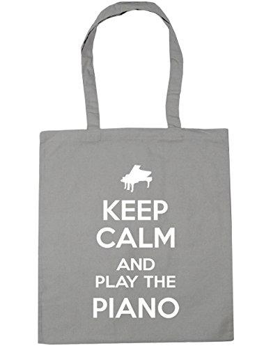Beach Piano 10 Shopping Keep Grey Bag Play litres HippoWarehouse Tote and x38cm Gym Calm the Light 42cm xzSqOTCX