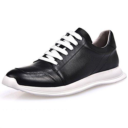 Tendance Chaussures 42 En Plate De Forme Hommes Souliers Des La Cuir De Des De Personnalité Occasionnels De Blackwhite Basses Chaussures X1Ww4Zq