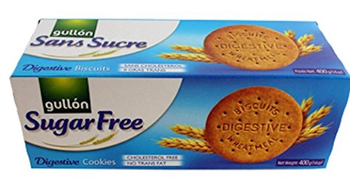 Whole Wheat Sugar Cookies - GULLON Sugar Free Digestive Cookie 400g (Pack of 4)