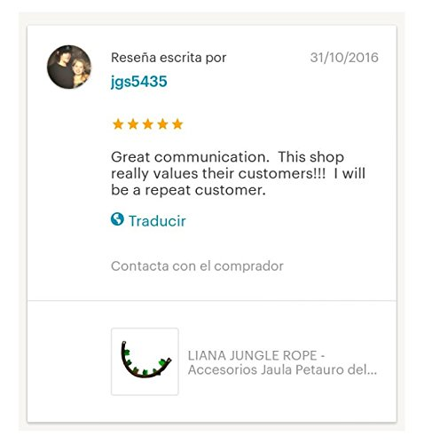 LIANA ROPE JUNGLE - Decoración Accesorio Jaula Petauros - Petauro ...