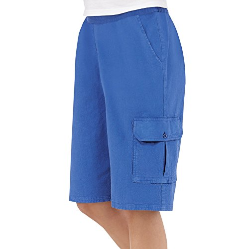 Womens Elastic Waist Pocket Plus Size