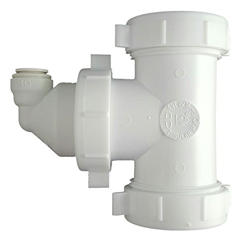 Single Line Adapter - Eco-Tech DLA-12 Drain Line Adapter (Quick Connect) Part # 12-38 QC, Reverse Osmosis RO for Multi-Compartment Sinks or Single Compartment Sinks without Disposal, Made in USA