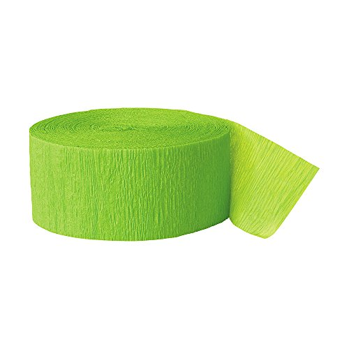 Green Paper Streamers (Crepe Paper Streamers, 81 Feet, Lime Green, 2 Rolls)