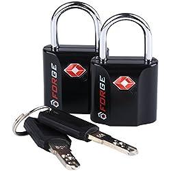 Black 2 Pack TSA Approved Travel Luggage Locks