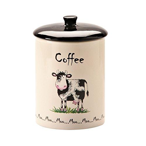 Home Farm Cow Design Coffee Storage Jar (Pack of 2)