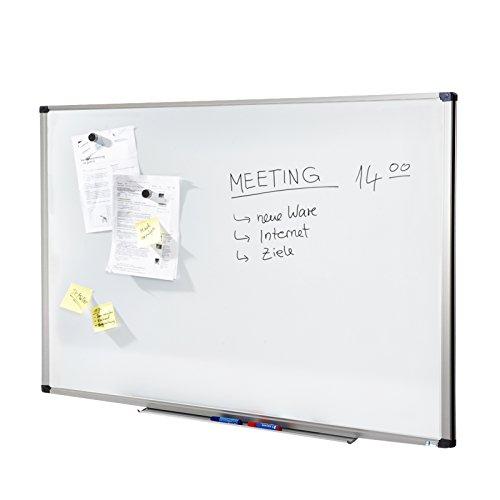 MOB Whiteboard Economy | Testnote 1,5 | schutzlackiert & magnethaftend - im stabilen Alurahmen - 60x90cm