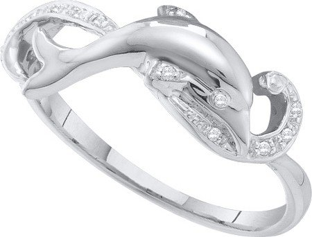 0.05ctw Round Diamond Dolphin Engagement Ring