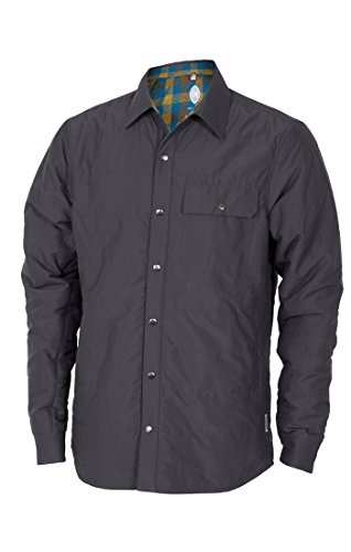 (Club Ride Men's Lake Creek Shacket Synthetic Fill Jacket, Color: Charcoal, Size: M)