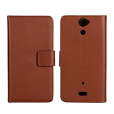 GUANHAO Cowskin Slim Wallet Card Pouch Flip Leather Etui Stand Case Cover For Sony Xperia V LT25i (Sony Xperia V Screen)
