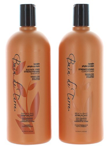 Bain De Terre Keratin Phyto-protein Strengthening Shampoo and Conditioner - 33.8 Oz