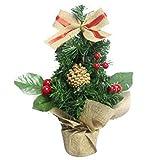 Christmas Tree Decorations, Jchen(TM) Happy Year Christmas Decor Artificial Tabletop Mini Christmas Tree Decorations Festival Miniature Tree 30cm (Red)