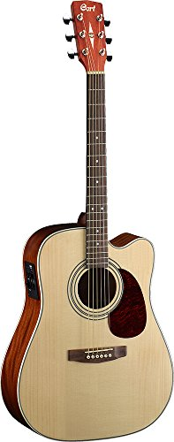 Cort 6 String Acoustic-Electric Guitar, Right Handed, Open Pore Natural (MR500E OP) (Cort Electric Acoustic)
